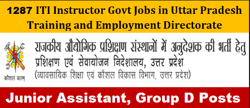 up iti instructor recruitment 2019
